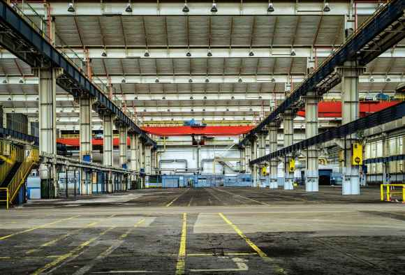 architecture building empty factory
